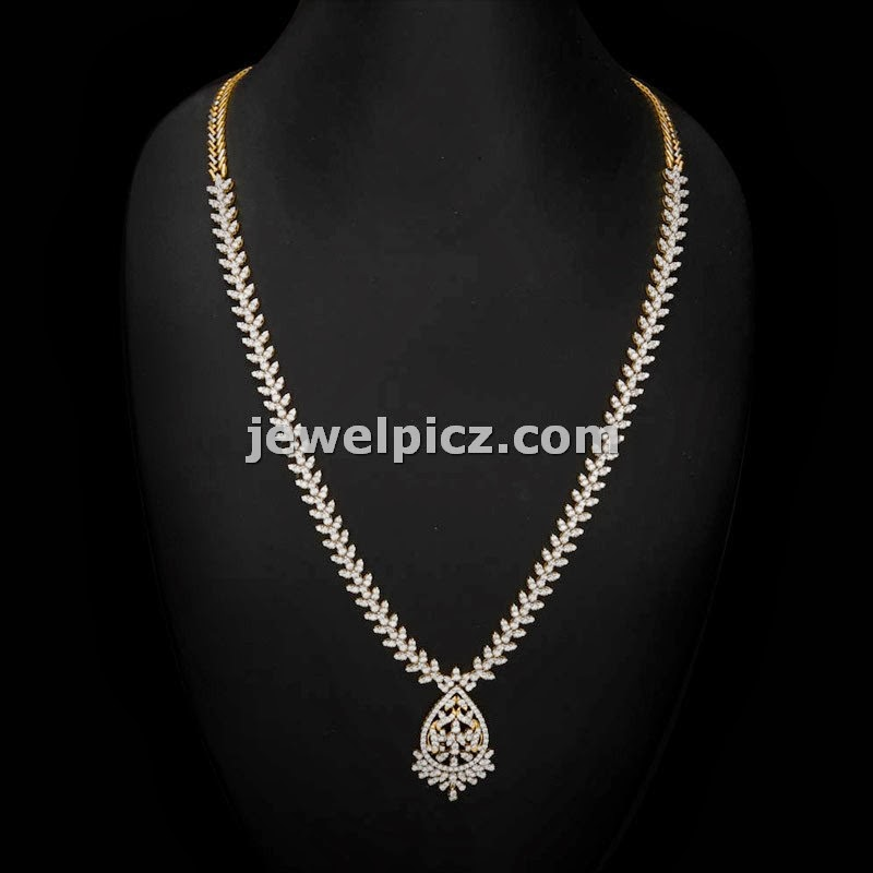 simple necklace by avr swarna mahal