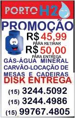 Disk Água - Gás - Carvão - Mesas...