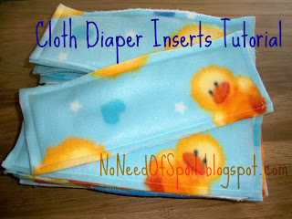 No Need Of Spoil Cloth Diaper Inserts Tutorial