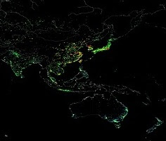 Global Internet traffic.