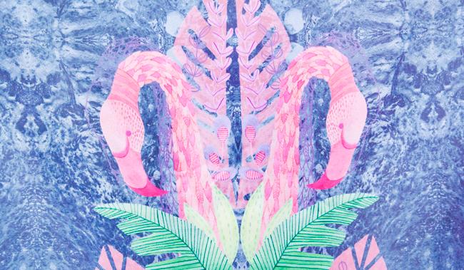 flamingo skirt, tropical print, maxi skirt