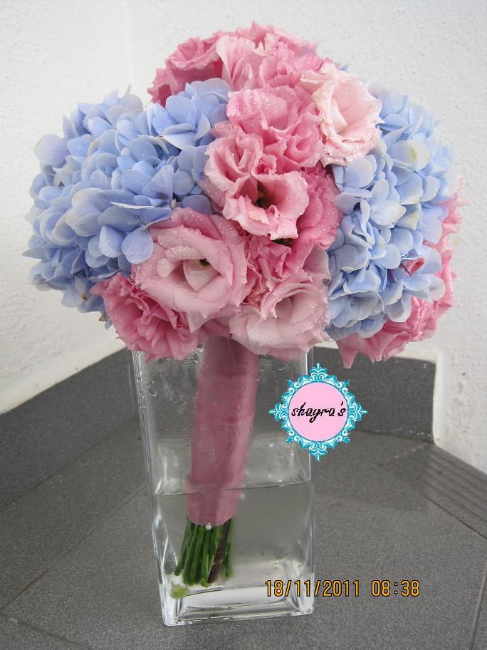 Wedding Bouquet Pink Blue : Flora by shayra baby blue pink bridal bouquet