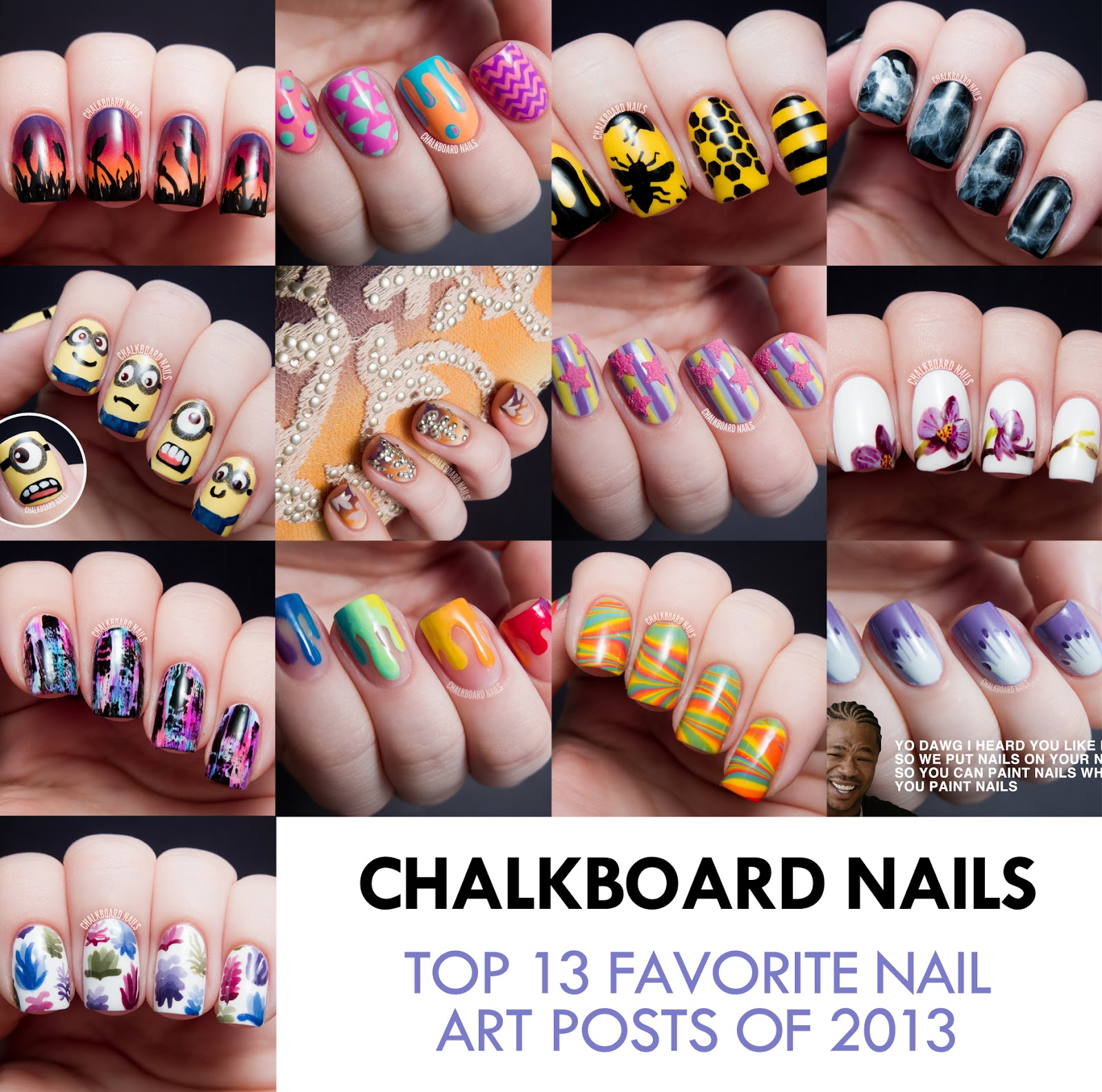 Top 13 favorite nail art posts of 2013 chalkboard nails nail top 13 favorite nail art posts of 2013 prinsesfo Image collections