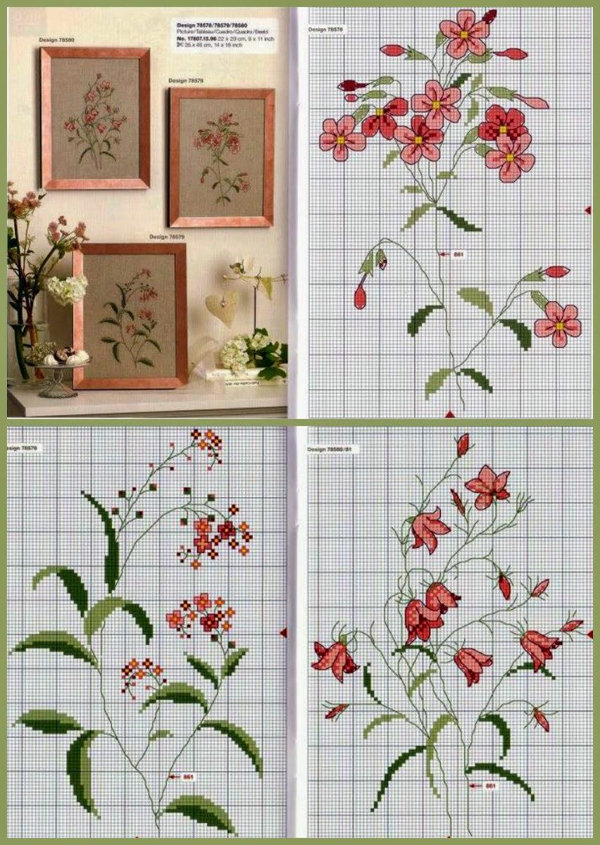 Вышивка полевых цветов 68