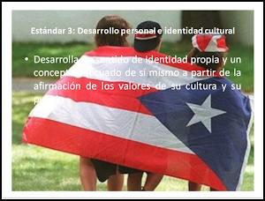 Estándar 3: DESARROLLO PERSONAL e IDENTIDAD CULTURAL