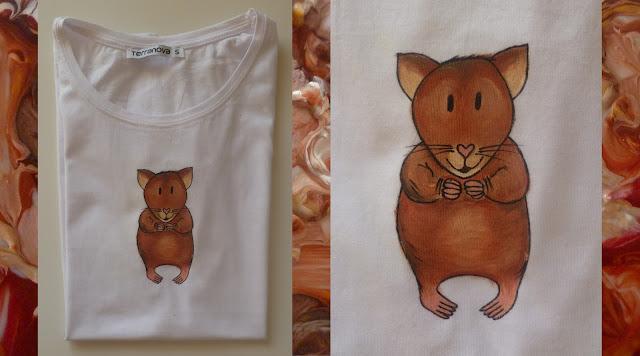 Ručmě malované tričko