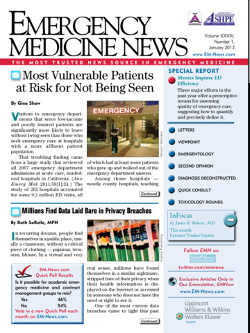 Emergency Medicine News