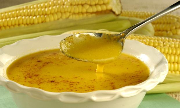 Receita deCaldo de milho com gengibre