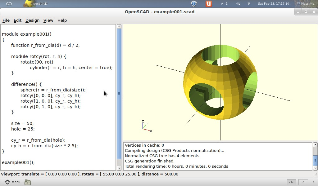 Drawing Lines In Openscad : Massimo s open scad the programmer oriented cad