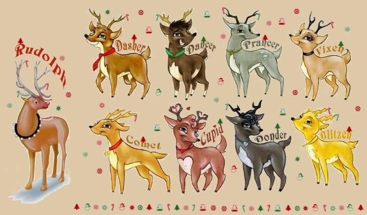 Christmas reindeers names