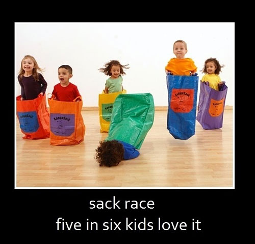 Sack Race - Five In Six Kids Love It