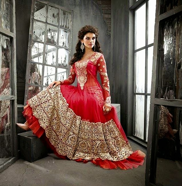 Designer Frocks Outfits for Pakistani Wedding Parties