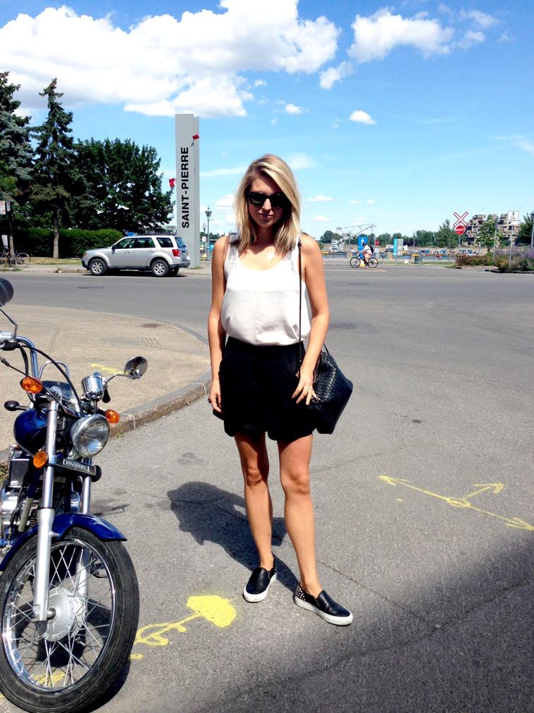 What I Wore H&M Silk Tank Zara Black Mini