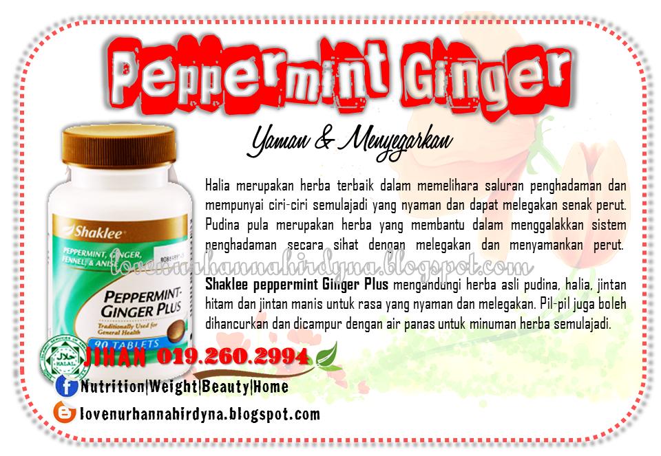 khasiat peppermint ginger shaklee