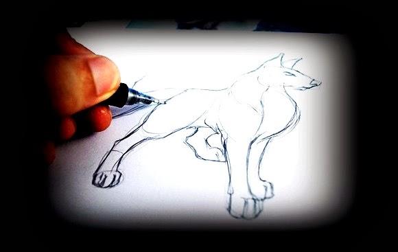 loboxdead: Dibujando lobo pasos