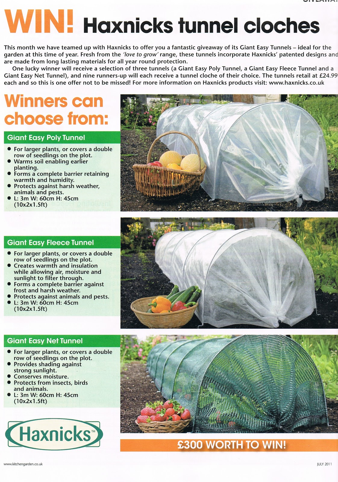 Kitchen Gardener Magazine Win Easy Tunnels Haxnicks