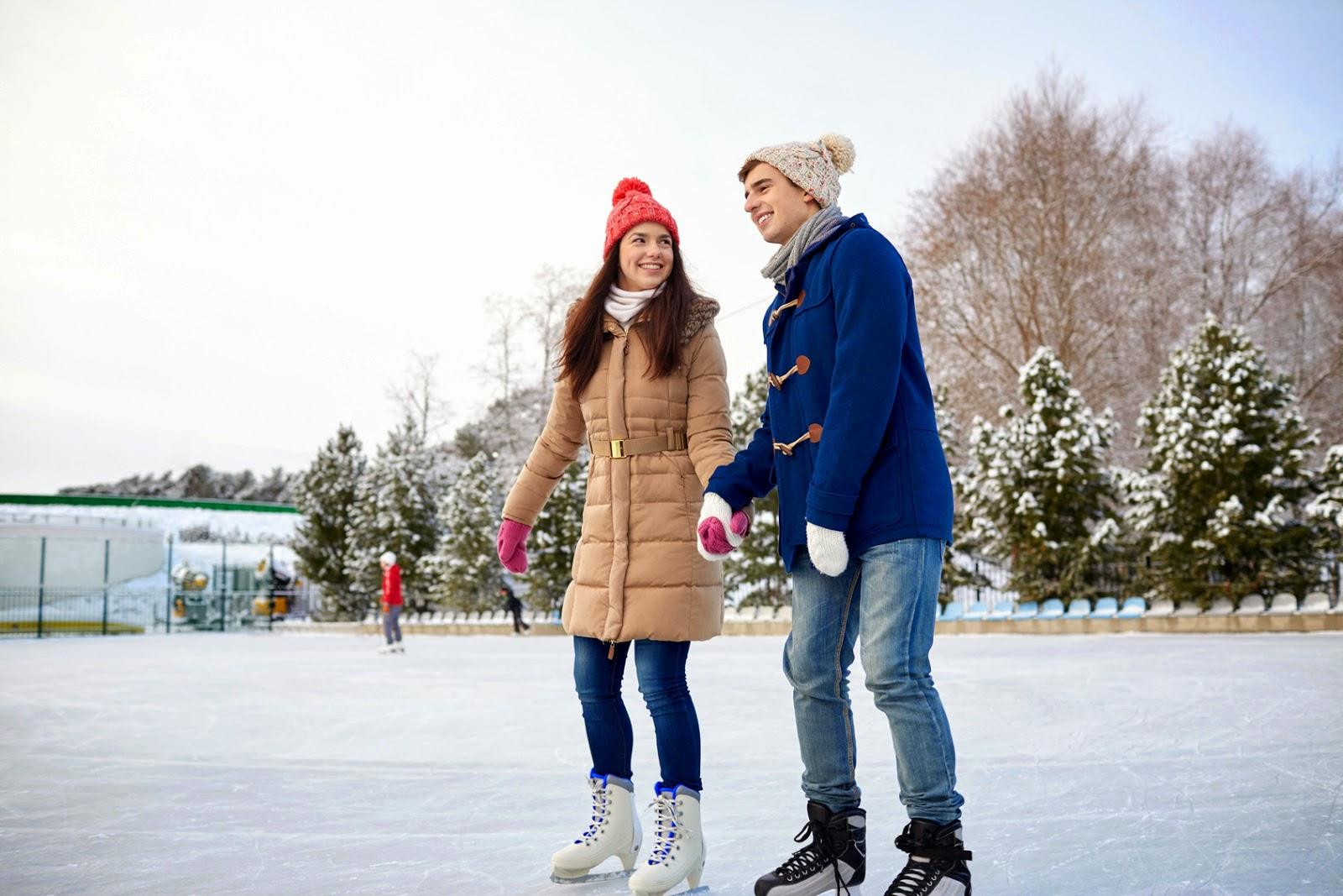 winter, date night, Utah, snowshoeing, ice skating, tubing
