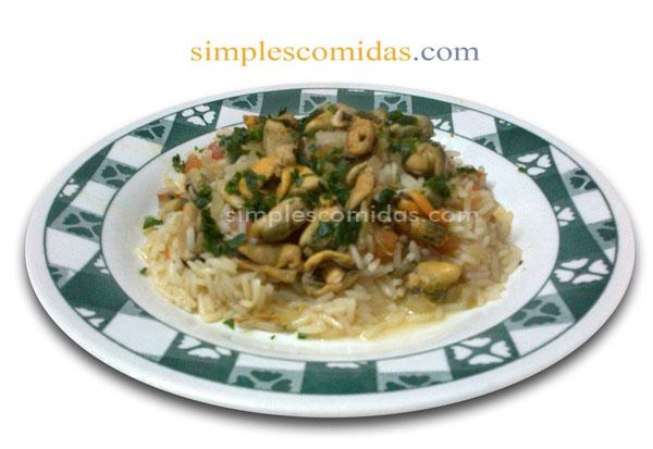 mejillones con arroz