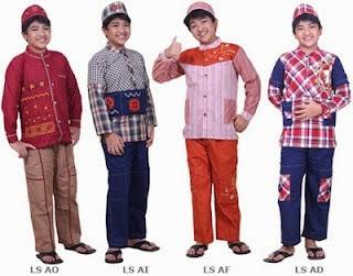 Gambar busana anak berbagai pilihan warna trendy
