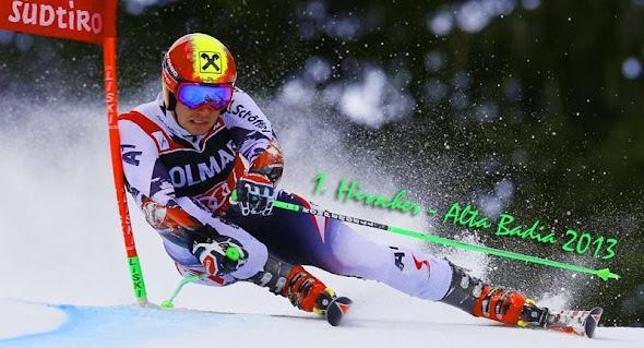 Alta Badia Hirscher lyžovanie 2013