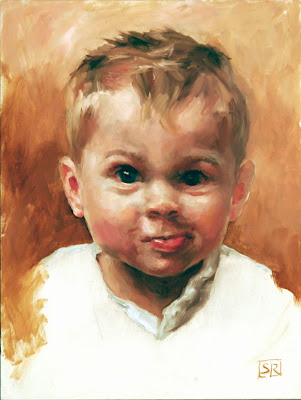 Portrait of Max, oil on panel, by artist Shannon Reynolds