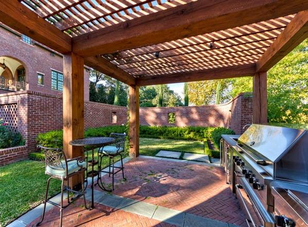 Garden Design with Modern Wooden Gazebo