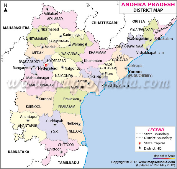mp3 Download: andhra pradesh map with districts outline