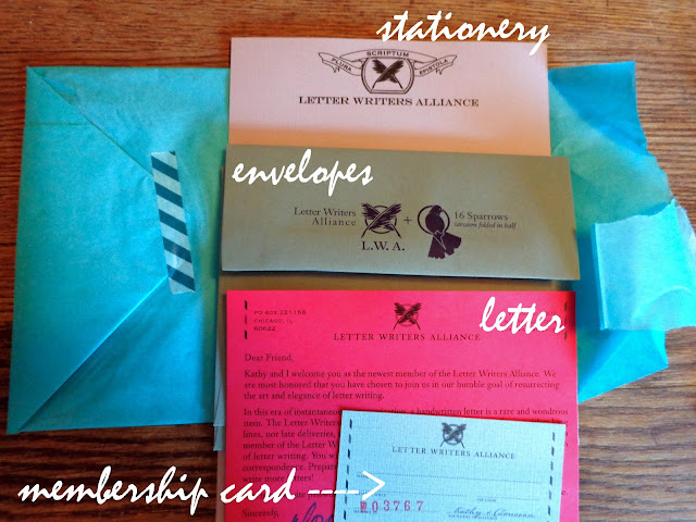 Letter Writer's Alliance: stationery and membership package