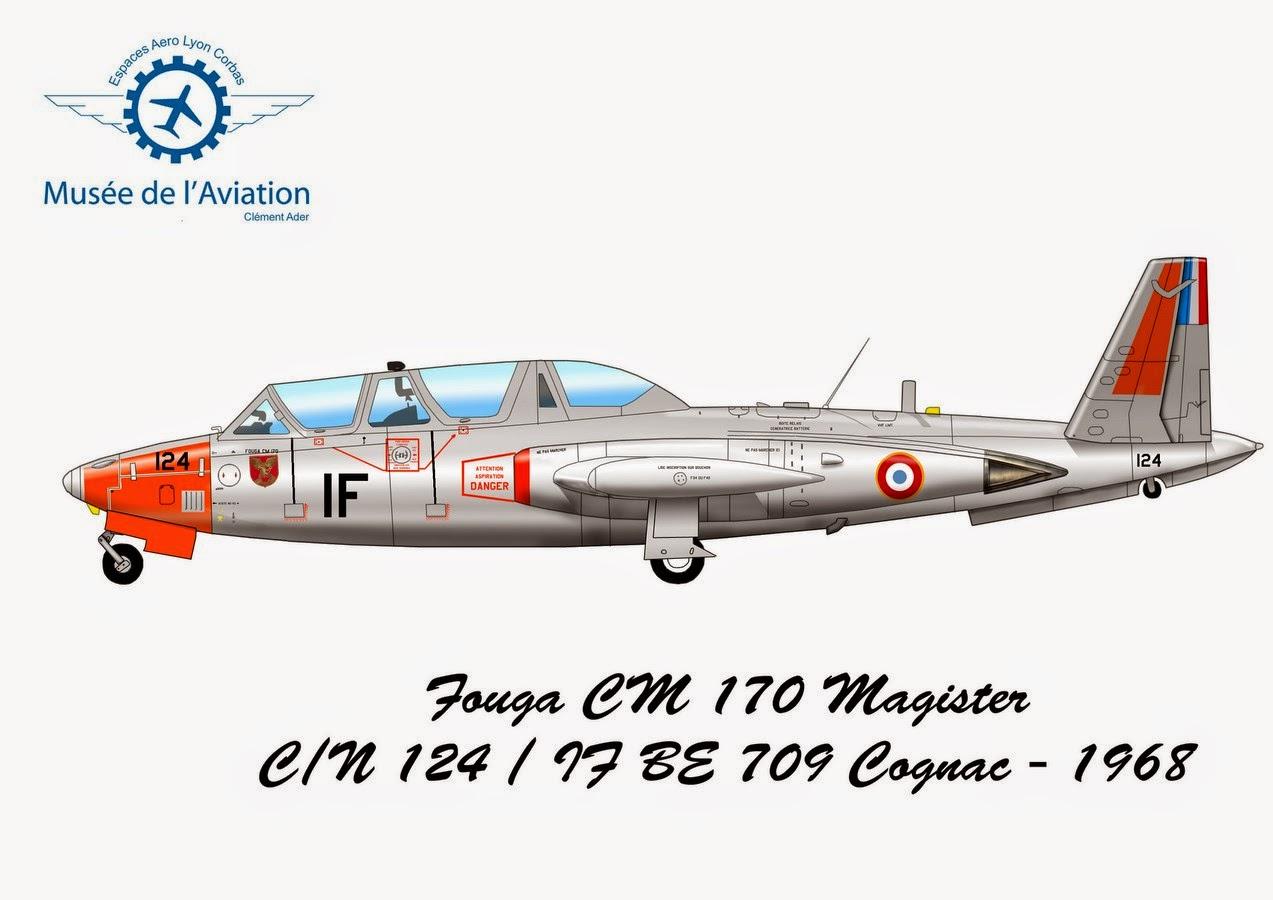 Fouga CM 170 Magister N°124