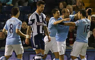Manchester City berhasil menaklukkan West Brom 3-2