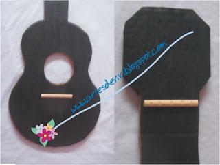 artesanato violão brinquedo