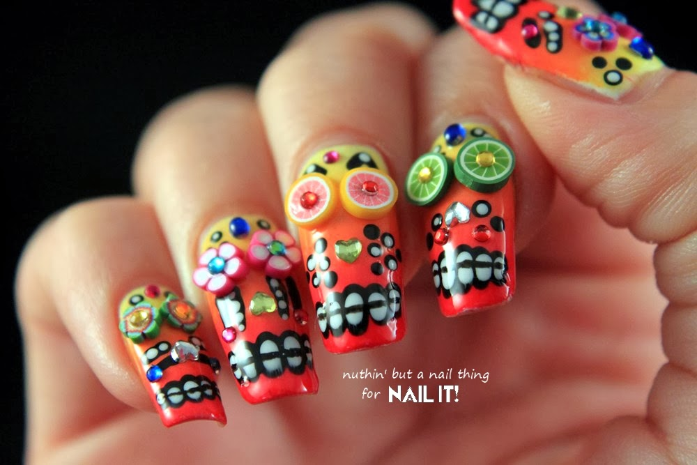Dia de los muertos nail designs images nail art and nail design sugar skulls nail art images nail art and nail design ideas nuthin but a nail thing prinsesfo Gallery