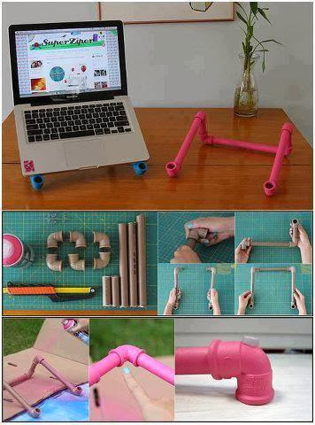 DIY PVC Pipe Laptop Holder