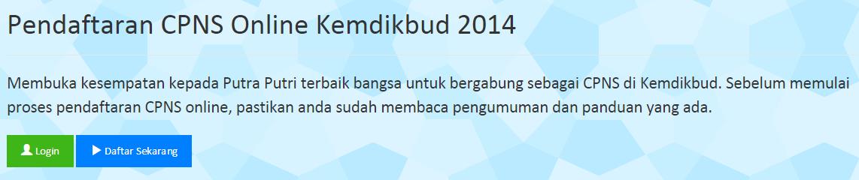 Pendaftaran CPNS Kemendikbud Online 2014 Panselnas