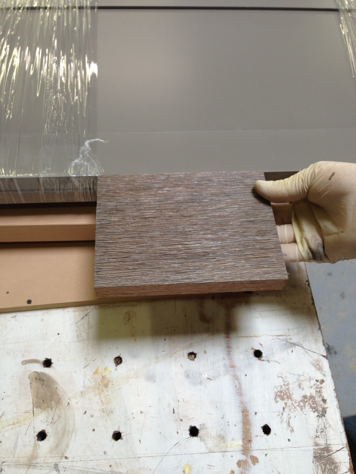 Elegant Another Sample Of The Wire Brushed Oak Next To The Island Cabinet Drawers: