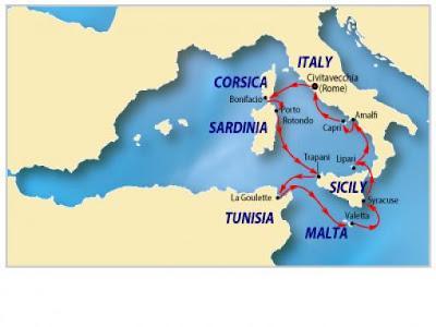 Isla de Malta mapa
