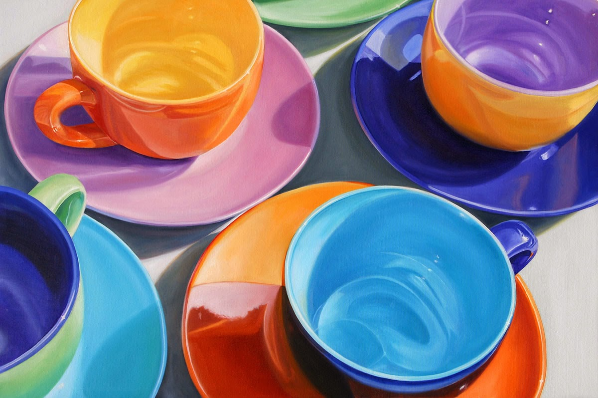 17-Cups-n-Saucers-Daryl-Gortner-Reflections-in-Art-Photo-Realistic-Paintings-www-designstack-co