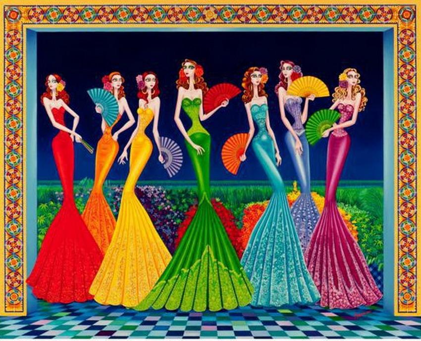 Pintura moderna y fotograf a art stica cuadros vistosos de meninas coloridas y modernas - Cuadros de meninas ...