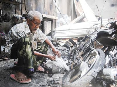 Campak  5 Anak Melalui Tingkap | Kejadian Kebakaran di Meranti