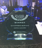 glass award, Empire Garage, FSB, 2015