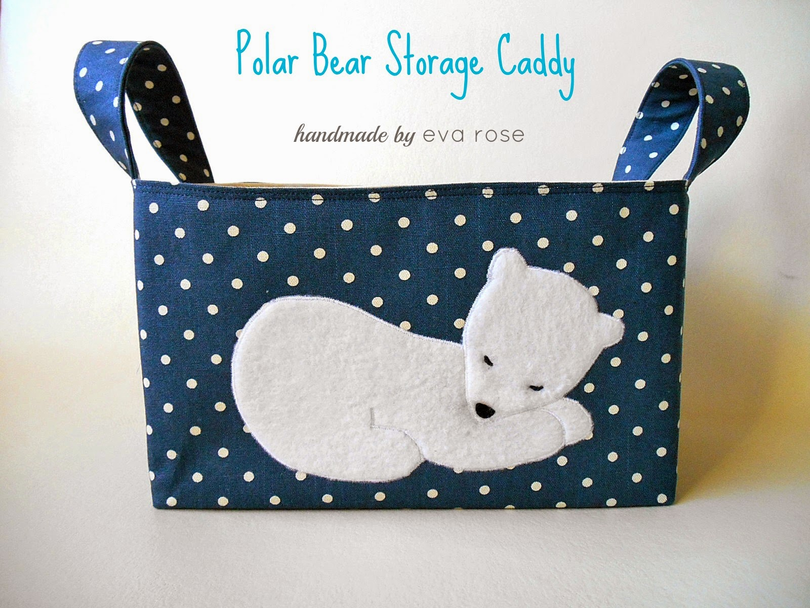 polar bear fabric basket