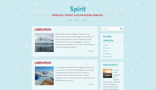spirit blogger template