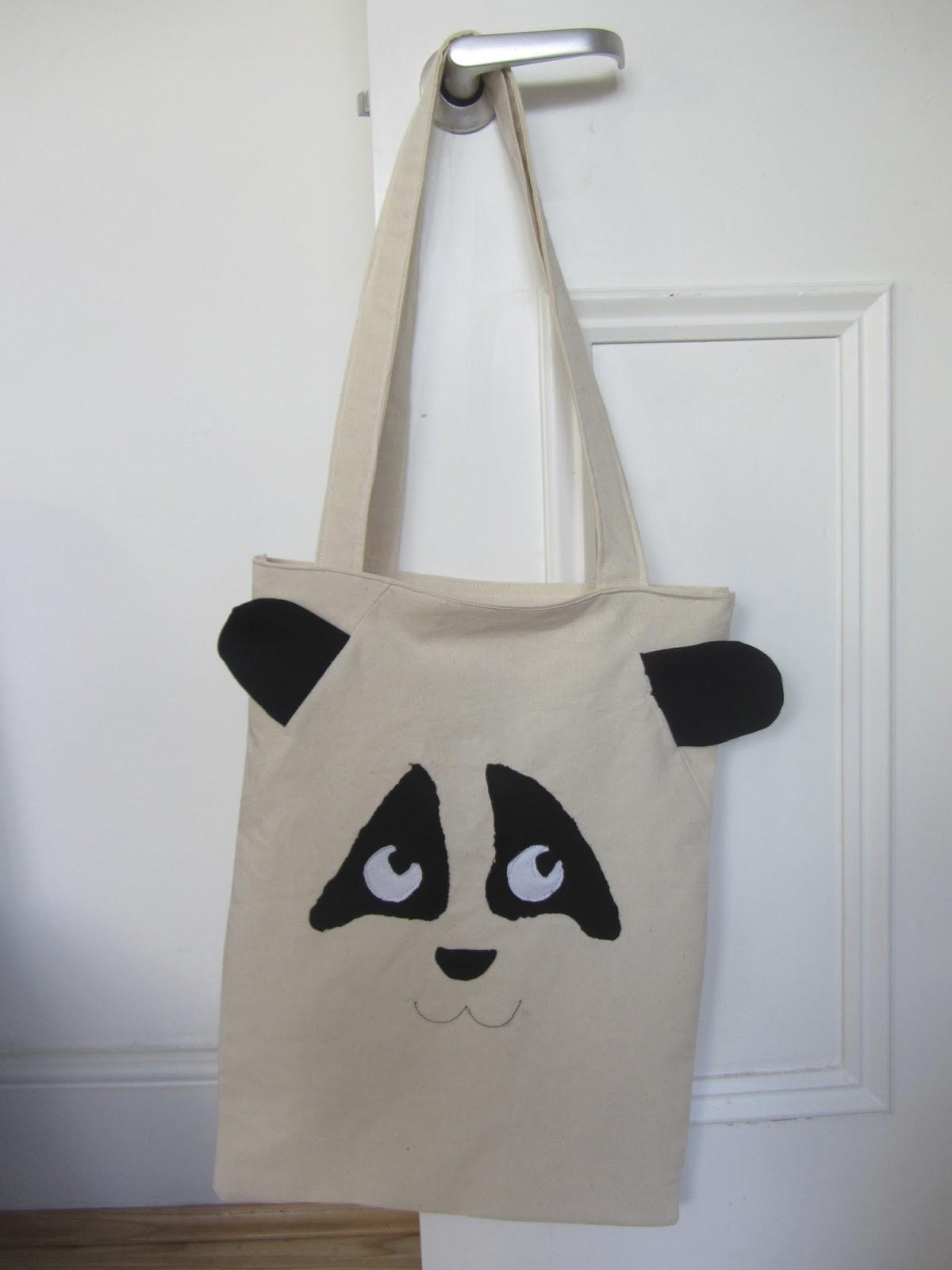 Jellybean in the Oven: Simple Panda Tote Bag - DIY Tutorial