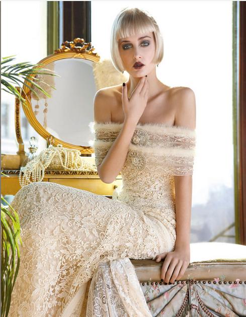 Vestido de novia vintage Yolan Cris