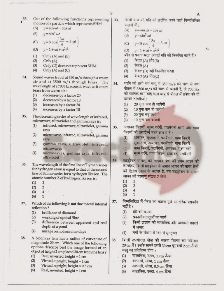 AIPMT 2011 Exam Question Paper Page 09