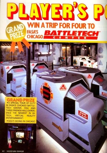 Nintendo Power Battletech Center Contest