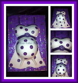 Purple Pregnant Belly Baby Shower Cake - Vanilla sponge with white chocolate ...