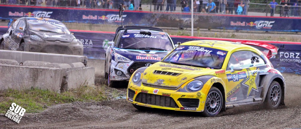 Tanner Foust driving the GRC VW Beetle