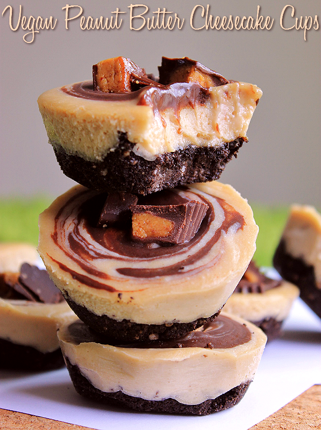 These Vegan Peanut Butter Cheesecake Cups are gauranteed to fool your family and friends!