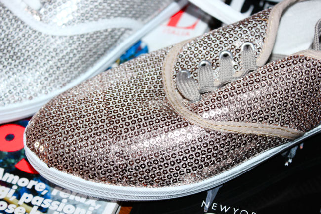 Monday mood: Fashion & Sequins. Elle Italy 2014. Sequined sneakers.